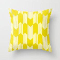 Yellow  Boho Arrows Throw Pillow