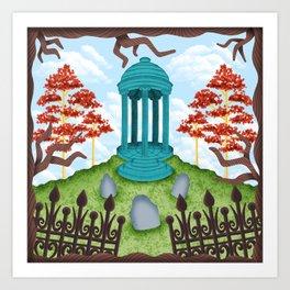 Colorful Graveyard Art Print