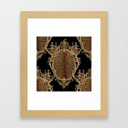 Leopard Chinoise Framed Art Print