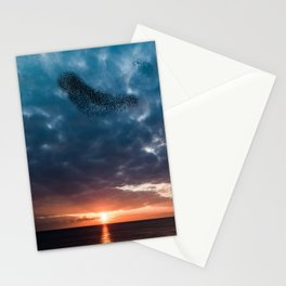 Murmuration of starlings Stationery Cards