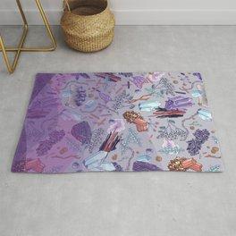 violet mountain dreams Rug