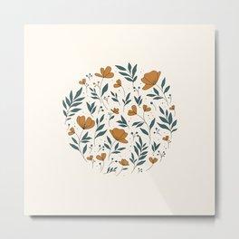 Bed of Flowers Metal Print