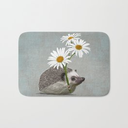 Hedgehog in love Bath Mat