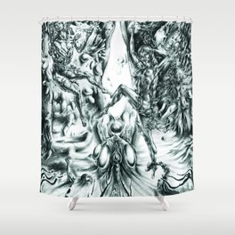 Sub-dimensional Passage to God Shower Curtain