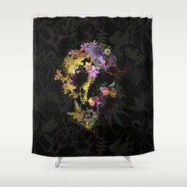 Spring Skull Shower Curtain