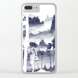 Windy day - #1 Clear iPhone Case