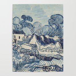 Landscape with Houses Poster