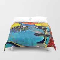 spanish Duvet Covers featuring Spanish Bull by Rookery Design