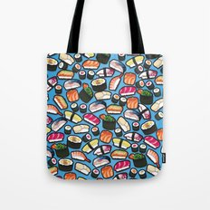 Sushi Blue Tote Bag