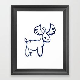 Love Dove Deer Framed Art Print