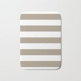 Grullo -  solid color - white stripes pattern Bath Mat