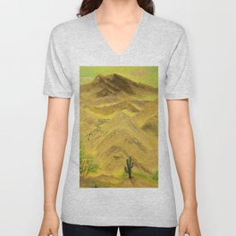 Wonderful desert mountains Unisex V-Neck