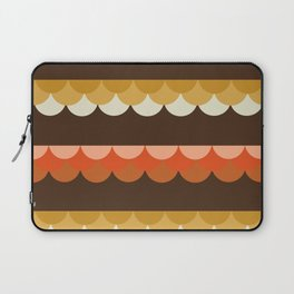 Be Still - scallop retro vintage 70s style colors 1970s throwback Laptop Sleeve
