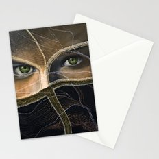 emerald eyes Stationery Cards