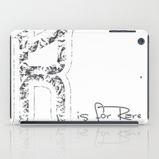 R - is for Rare - white version iPad Case