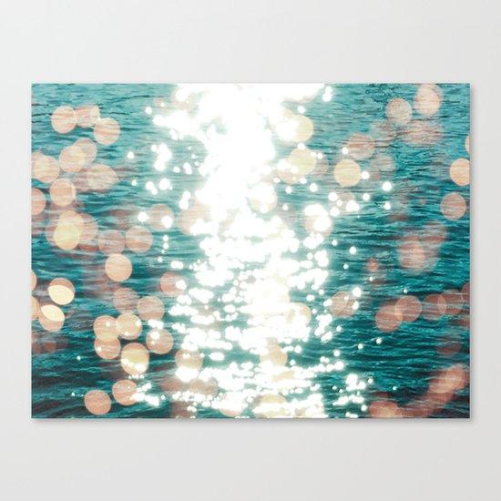 Sun glitter - golden light Canvas Print