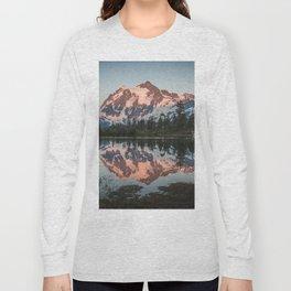 Cascade Sunset - Mt. Shuksan - Nature Photography Long Sleeve T-shirt