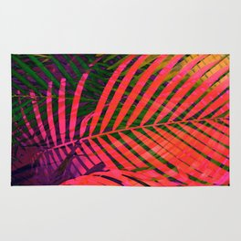 COLORFUL TROPICAL LEAVES no6 Rug