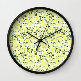 So luscious lemons || watercolor Wall Clock