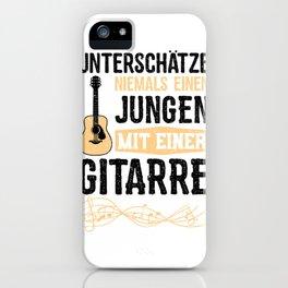 Unterschätze Niemals Einen Jungen Mit Einer Gitarre iPhone Case