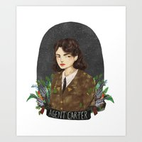agent carter Art Prints featuring Agent Carter by strangehats