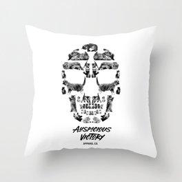 Kitten Skull Throw Pillow