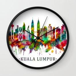 Kuala Lumpur Malaysia Skyline Wall Clock
