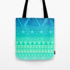 Blue Mayan Tote Bag