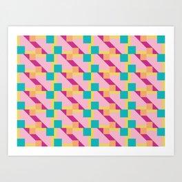 Seamless colorful pattern 2 / abstract / geometric Art Print