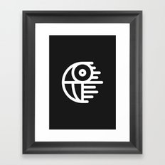 Death Star Framed Art Print