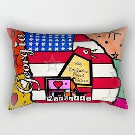 Marietta Popart by Nico Bielow Rectangular Pillow