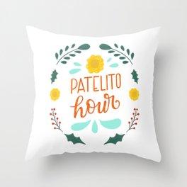 Patelito Hour - Dominican Christmas series by gabbadelgado Throw Pillow