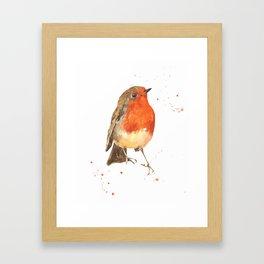 Winter's Herald Framed Art Print