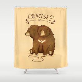 Fitness Bear by Devon Baker Shower Curtain