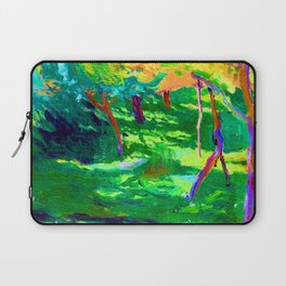 Jozef Mehoffer Strange Garden Laptop Sleeve