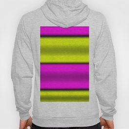 Pink & Yellow  Horizontal Stripes Hoody