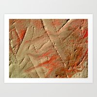 fault Art Prints featuring Fault Lines by Allegra Michaels