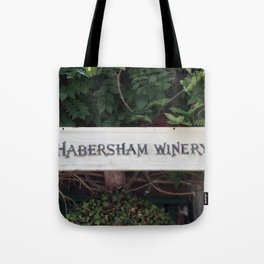 Habersham Winery Sign Tote Bag