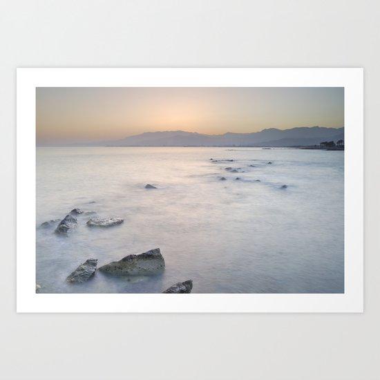 Calm sunset Art Print