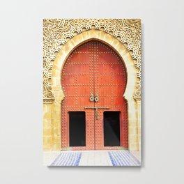 Red Morccan Door Metal Print