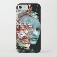 mask iPhone & iPod Cases featuring Mask by Irmak Akcadogan