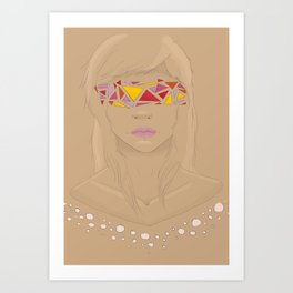 Girl with the Abstract Eyes Art Print