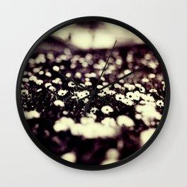 flowers field III Wall Clock