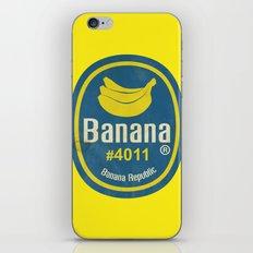 Banana Sticker On Yellow iPhone & iPod Skin
