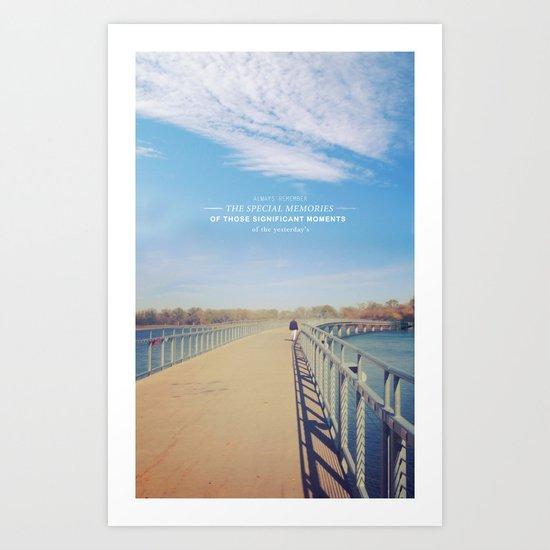 Memorias del ayer Art Print