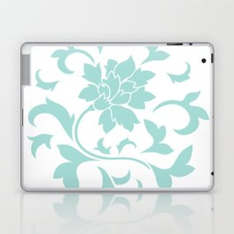 Oriental Flower - Limpet Shell Circular Pattern On White Background Laptop & iPad Skin