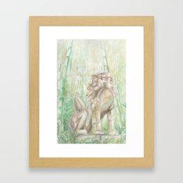 Bamboo Komainu Framed Art Print