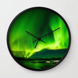 Northern Lights Aurora Borealis Wall Clock