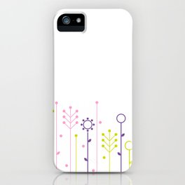 Beautiful colorful flowers Vector Illustration iPhone Case