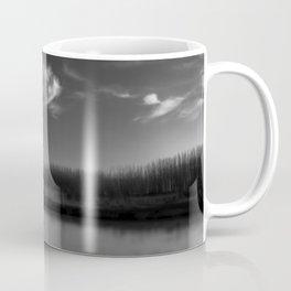 Winter Lake in Black and White Coffee Mug